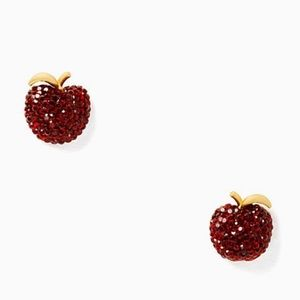 Kate Spade Ruby Red Dashing Beauty Apple Studs